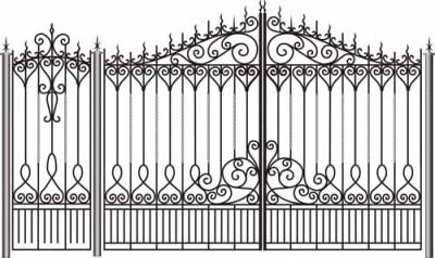 Эскиз кованых железных ворот