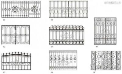 Разнообразие эскизов заборов может подойти и для ворот