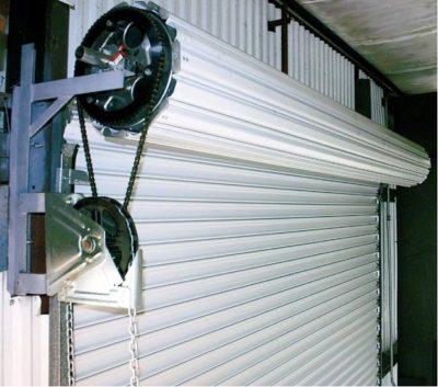 Механизм рулонных гаражных створок