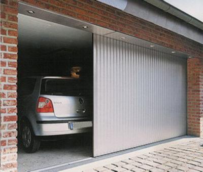 Консольные откатные створки въезда в гараж