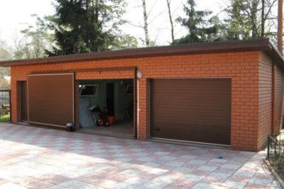 Откатная конструкция также может быть в гараже сделана своими руками