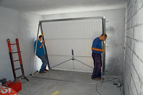 Автоматические гаражные ворота установка своими руками