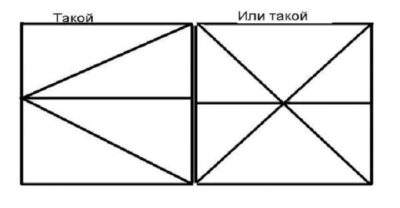 Схема каркаса гаражных створок