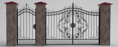 Один из возможных вариантов кованых ворот