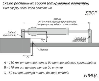 Устройство воротной конструкции с приводом
