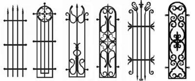 Многообразие стоек с коваными элементами
