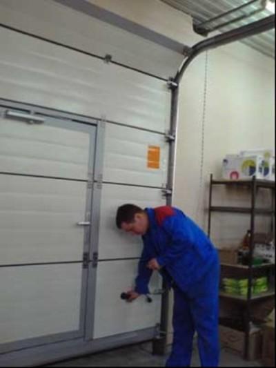 Отладка гаражных ворот