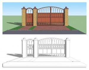 Пример проекта для ворот
