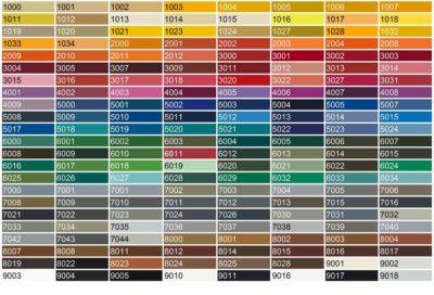 Цветовая гамма листов профнастила