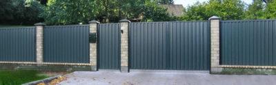 Ворота, калитка и забор из профнастила