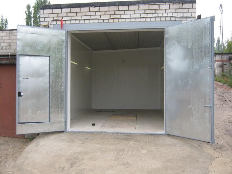 Железные ворота для гаража