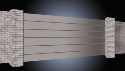 Дизайн откатных ворот