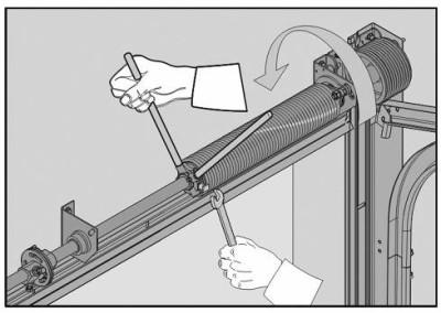 Замена троса в секционных воротах