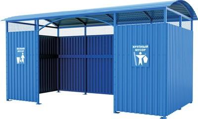 Навес для контейнеров из профлиста