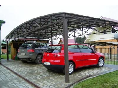 Навес для двух автомобилей