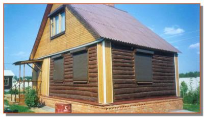 Рольставни в деревянной даче
