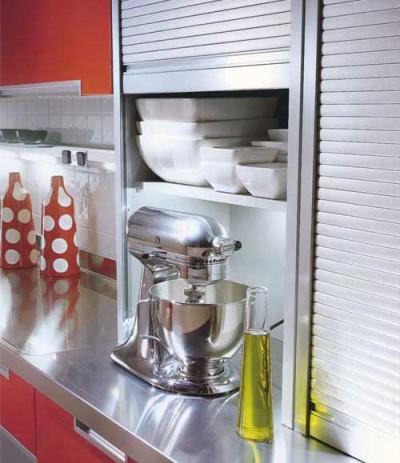 Рольставни в кухонных шкафах