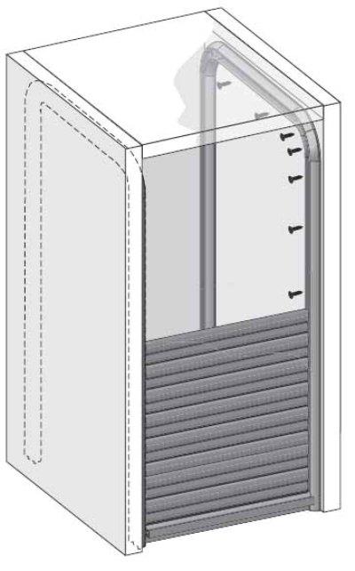Схема размещения системы внутри шкафа