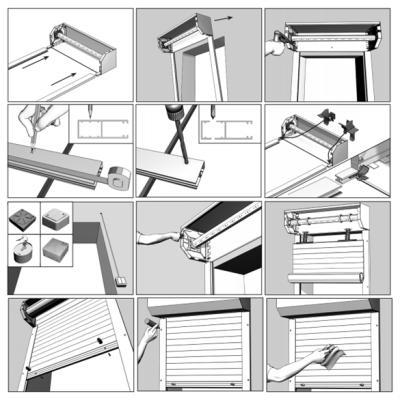 Инструкция по монтажу рольставен