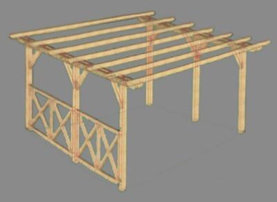 схема деревянной конструкции