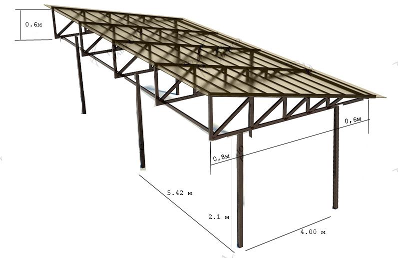 Как построить металлический навес своими руками