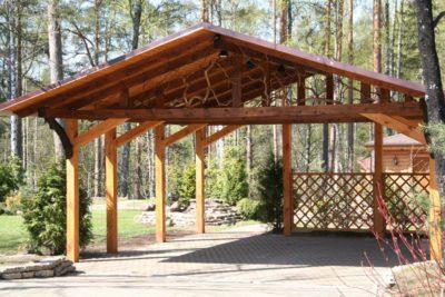Рис 10. Декорация деревянного навеса