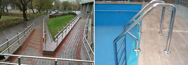 Конструкции для улиц и бассейнов