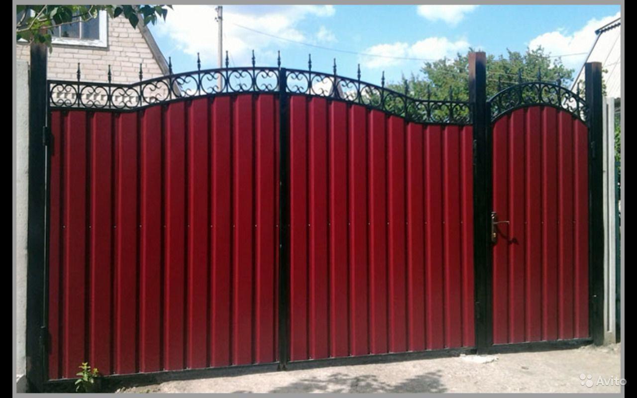 Ворота з металлопрофиля фото и цена ворота55
