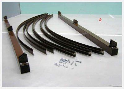 Профили для арочных поверхностей навесов из ПКЛ