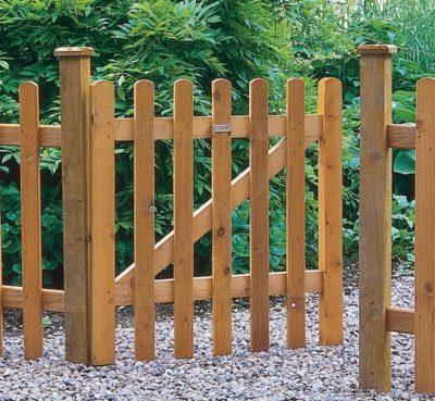 Простая деревянная калитка