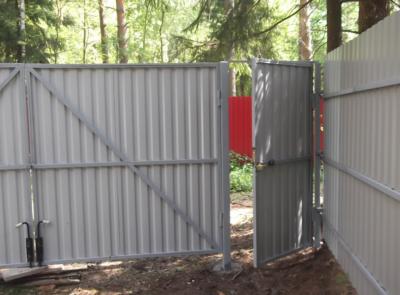 Калитка, забор и ворота из профнастила