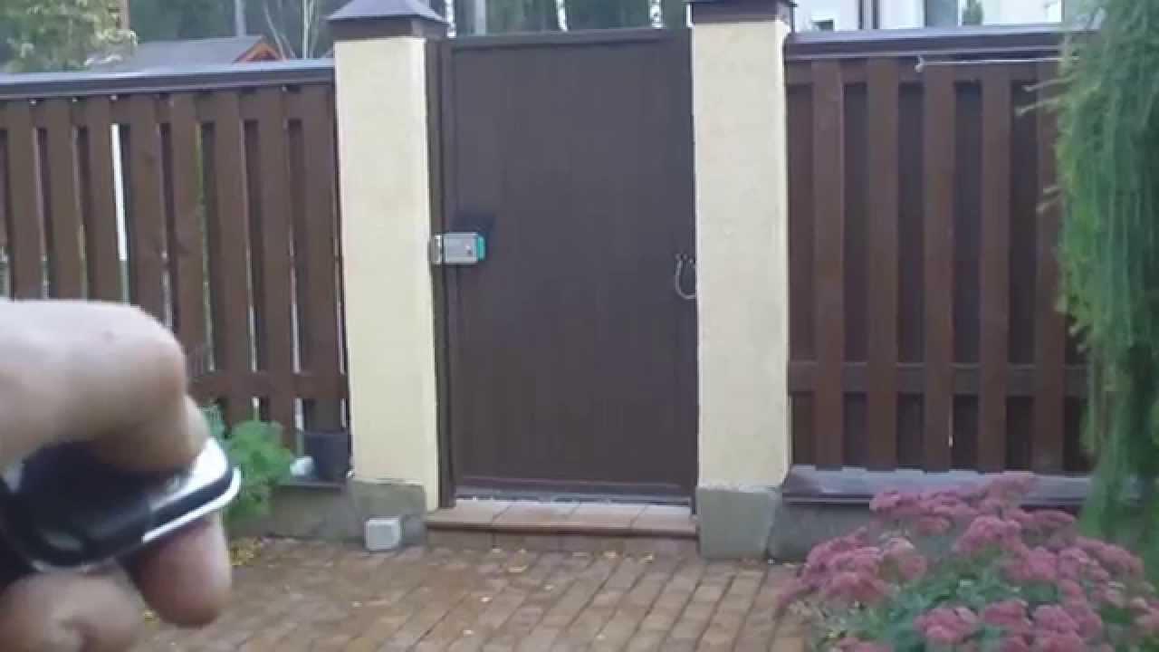 Куда открывается калитка монтаж ворот откатных